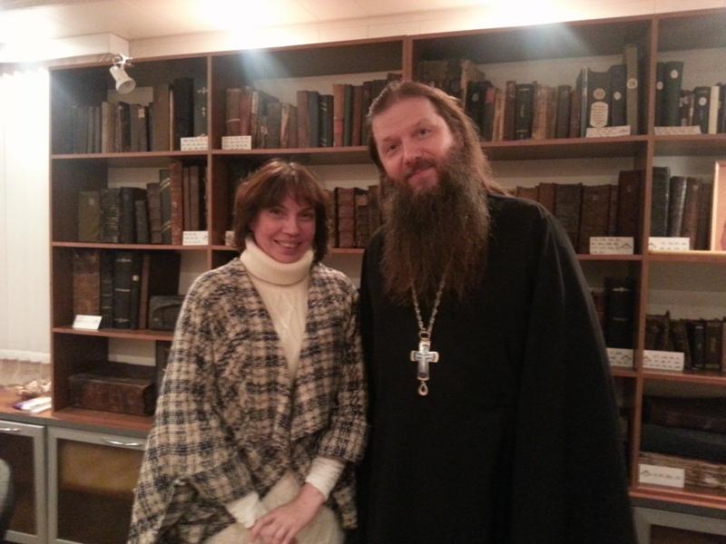 Отец Артемий с руководителем издательского отдела Раифского монастыря Ольгой Крестининой