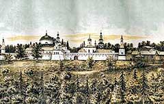 Сохранившееся изображение монастыря работы неизвестного художника.