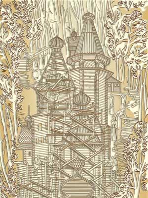 Строительство деревянного храма (16 в.)
